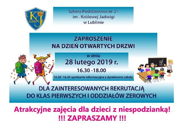 Szkoła Podstawowa Nr 21 Im Królowej Jadwigi W Lublinie
